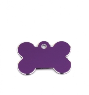 Small Purple Bone Pet Name ID Tags Hi Line