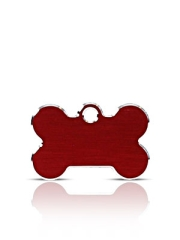 Small Red Bone Pet Name ID Tags Hi Line