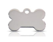 Stainless Steel Pet ID Tag Small Bone