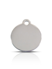 Wholesale Small Silver Disc Dog ID Tags x10 Pack