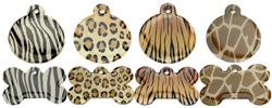 Animal Print Dog ID Tags
