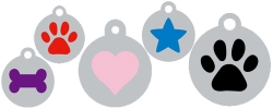 Silver Disc + Shape Dog ID Tags