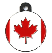 Canada Flag Large Disc Dog ID Tag