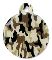 Wholesale Large Camo Army Green Disc Dog ID Tag