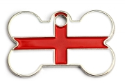 Wholesale Flag Tag England Small Bone Dog ID Tags x10 Pack