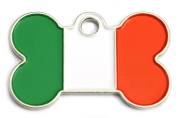 Wholesale Flag Tag Ireland Small Bone Dog ID Tags x10 Pack