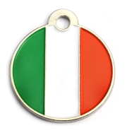 Wholesale Flag Tag Ireland Small Disc Dog ID Tags x10 Pack