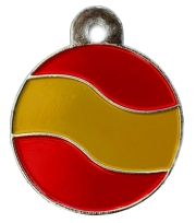 Spain Flag Large Disc Dog ID Tag