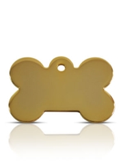 Brass Large Bone Dog ID Tag