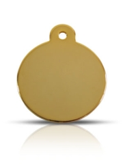 Brass Large Disc Pet ID Tags