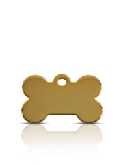 Brass Pet ID Tag Small Bone