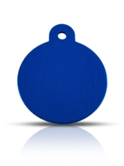Wholesale Large Blue Disc Dog ID Tags x10 Pack