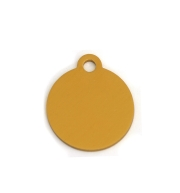 Wholesale Small Gold Bone Dog ID Tags x10 Pack