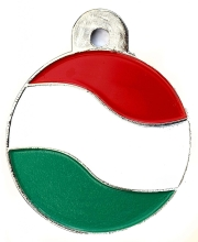 Wholesale Flag Tag Ireland Large Disc Dog ID Tags x10 Pack
