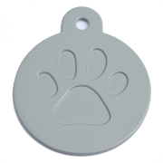 Round Grey Merit Range Dog ID Tags