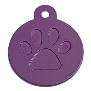 Round Purple Merit Range Dog ID Tags