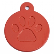 Round Red Merit Range Dog ID Tags