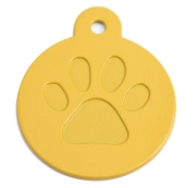Round Yellow Merit Range Dog ID Tags