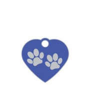 Wholesale Small Heart Two Paws Brown Dog ID Tags x10 Pack