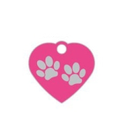 Wholesale Small Heart Two Paws Red Dog ID Tags x10 Pack