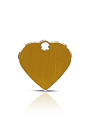 Small Gold Heart Pet ID Name ID Tags Hi Line