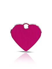 Small Pink Heart Pet ID Name ID Tags Hi Line