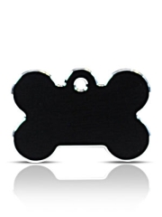 Large Black Bone Pet ID Tags Hi Line