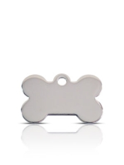 Small Silver Bone Prestige Pet ID Tags For Dogs