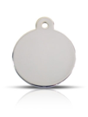 Large Silver Disc Prestige Pet ID Tags For Dogs