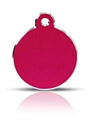 Large Pink Disc Pet ID Tags Hi Line