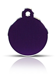 Large Purple Disc Pet ID Tags Hi Line