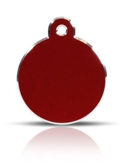 Large Red Disc Pet ID Tags Hi Line