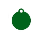Wholesale Small Green Disc Dog ID Tags x10 Pack