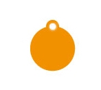 Wholesale Small Orange Disc Dog ID Tags x10 Pack